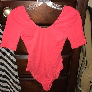 Peach bodysuit